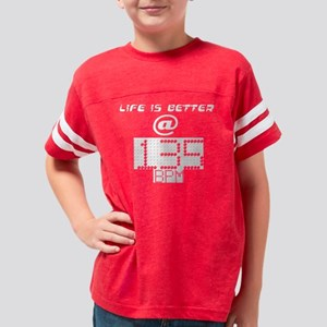 Life is Better White Youth Football Shirt