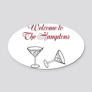 Welcome to the Hamptons Oval Car Magnet