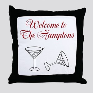 Welcome to the Hamptons Throw Pillow
