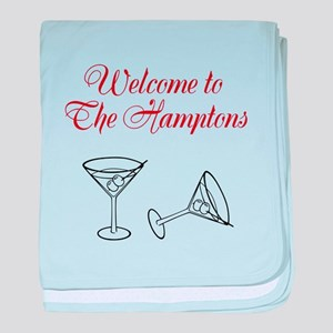 Welcome to the Hamptons baby blanket
