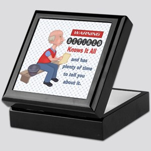 Funny Knows It All Retirement Keepsake Box
