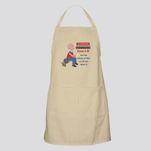Funny Knows It All Retirement Apron