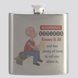 Funny Knows It All Retirement Flask