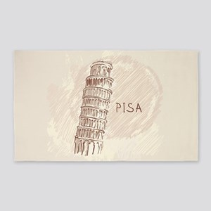 Leaning Tower of Pisa 3'x5' Area Rug