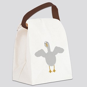 Goose Who Canvas Lunch Bag