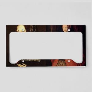 Anne and Elizabeth License Plate Holder