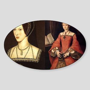 Anne and Elizabeth Sticker (Oval)