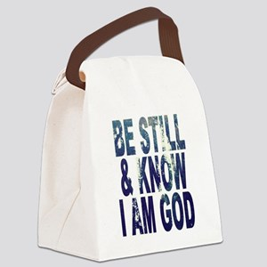 Be Still and Know I Am God Canvas Lunch Bag