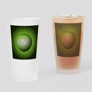 Abstract Green Globe Drinking Glass