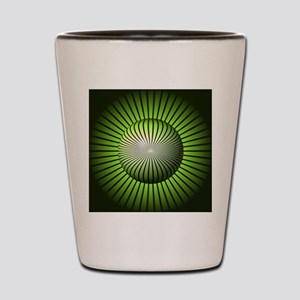 Abstract Green Globe Shot Glass