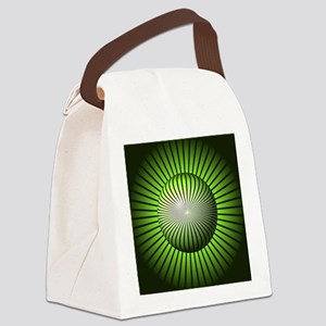 Abstract Green Globe Canvas Lunch Bag