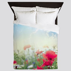 Poppy Field Queen Duvet