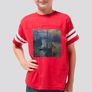 Claude Monet Sunrise At Sea Youth Football Shirt