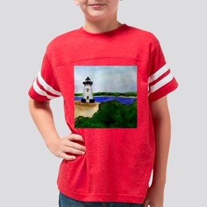 Edgartown Lighthouse-Marthas  Youth Football Shirt