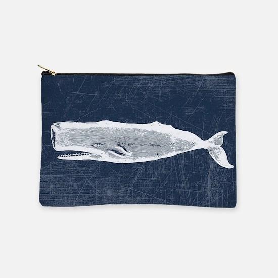 Vintage Whale White Makeup Pouch