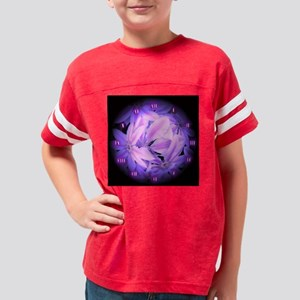Purple Flowers Roman Numerals Youth Football Shirt