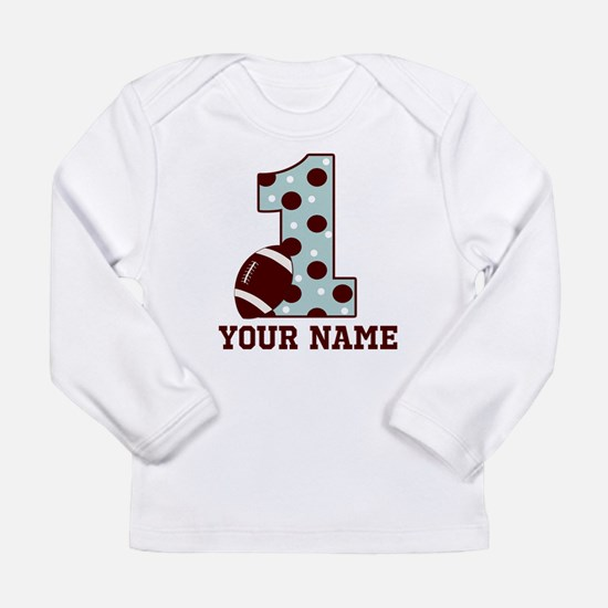 1st Birthday Football Long Sleeve T-Shirt