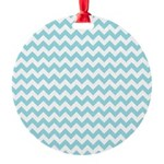 Blue Chevron Ornament