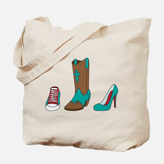 Sneaker Shoe And Boot Tote Bag