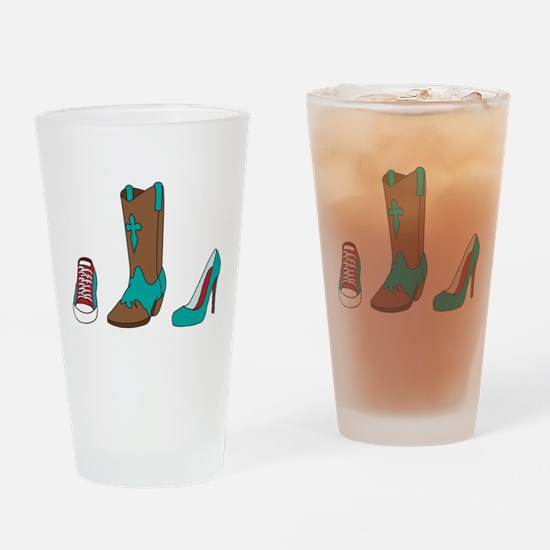 Sneaker Shoe And Boot Drinking Glass