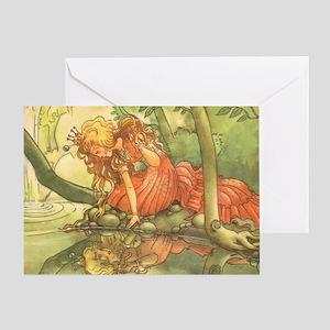 Vintage Fairy Tale Princess Greeting Card
