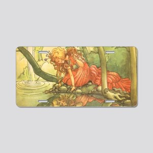 Vintage Fairy Tale Princess Aluminum License Plate
