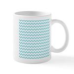 Blue Chevron Mugs