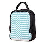 Blue Chevron Neoprene Lunch Bag