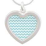 Blue Chevron Necklaces