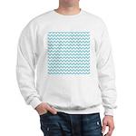 Blue Chevron Sweatshirt