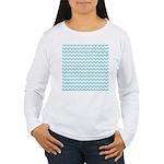 Blue Chevron Long Sleeve T-Shirt
