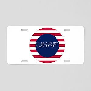 USAF-C Aluminum License Plate