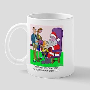 Santa a Fly by Night Operator? Mug
