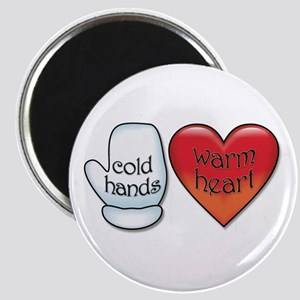 Funny Cold Hands Warm Heart Magnet