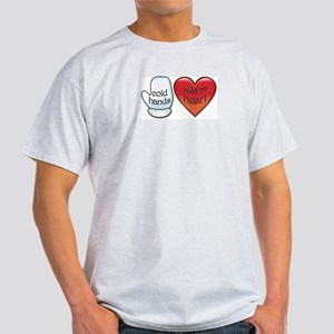 Funny Cold Hands Warm Heart Light T-Shirt