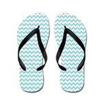 Blue Chevron Flip Flops