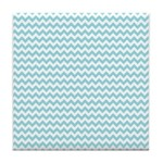 Blue Chevron Tile Coaster