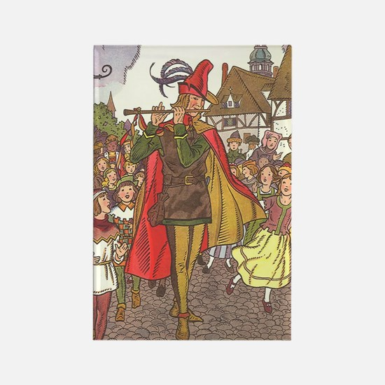 Vintage Pied Piper Fairy Tale  Rectangle Magnet