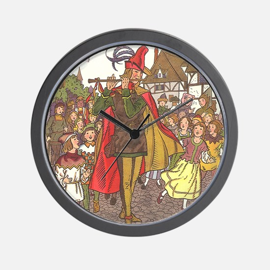 Vintage Pied Piper Fairy Tale  Wall Clock