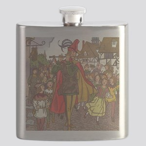 Vintage Pied Piper Fairy Tale  Flask