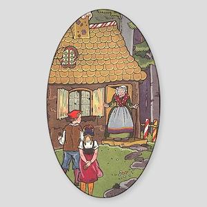 Vintage Hansel and Gretel Sticker (Oval)