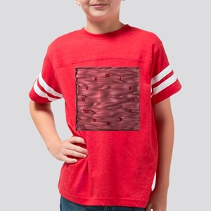 Pink Waves Roman Numerals Youth Football Shirt