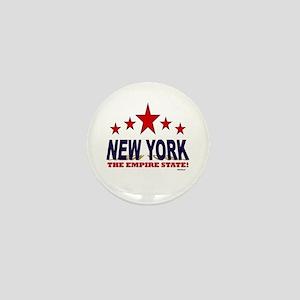 New York The Empire State Mini Button