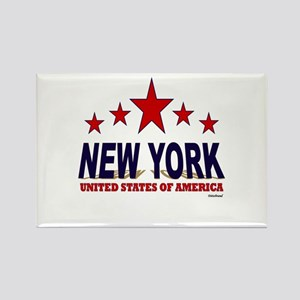 New York U.S.A. Rectangle Magnet