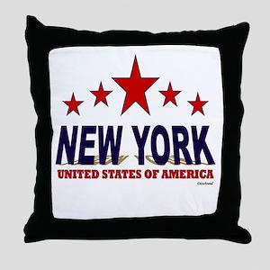 New York U.S.A. Throw Pillow