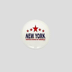 New York U.S.A. Mini Button