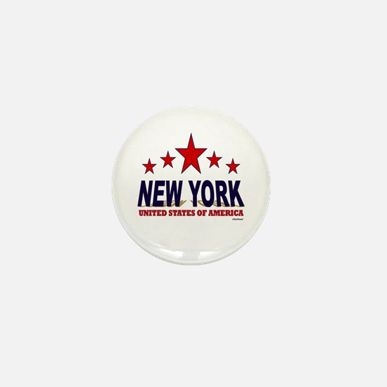 New York U.S.A. Mini Button