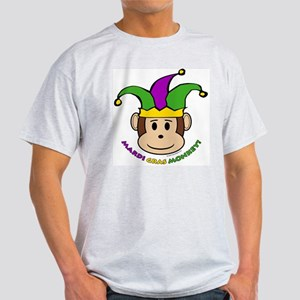 Mardi Gras Monkey Ash Grey T-Shirt