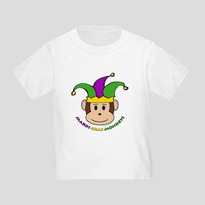 Mardi Gras Monkey Toddler T-Shirt