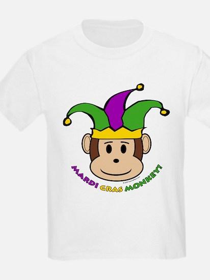 Mardi Gras Monkey Kids T-Shirt